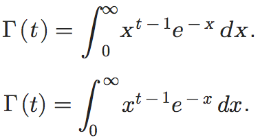 Screenshot of Wikipedia article on the Gamma Function