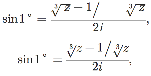 Screenshot of Wikipedia article on Trigonometric Functions